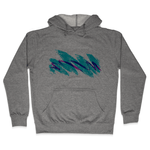 90s Jazz Wave Hooded Sweatshirt