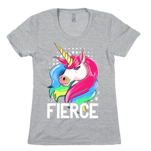Fierce Unicorn Womens T-Shirt