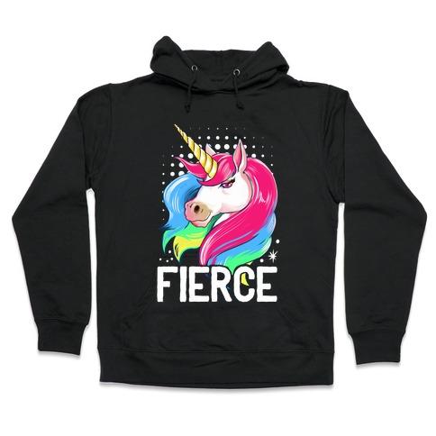 Fierce Unicorn Hooded Sweatshirt