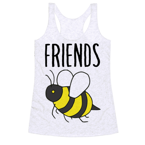 Best Friends: Bee Racerback Tank Top