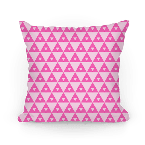 Pink Triangles Pattern Pillow