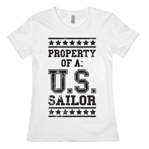 Property Of A U.S. Sailor Womens T-Shirt