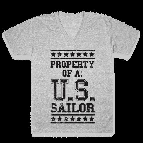 Property Of A U.S. Sailor V-Neck Tee Shirt