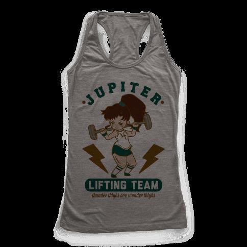 Jupiter Lifting Team Workout Parody Racerback Tank Top