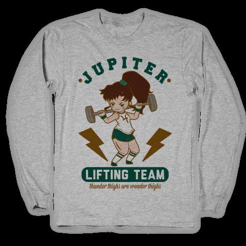 Jupiter Lifting Team Workout Parody Long Sleeve T-Shirt