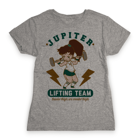 Jupiter Lifting Team Workout Parody Womens T-Shirt