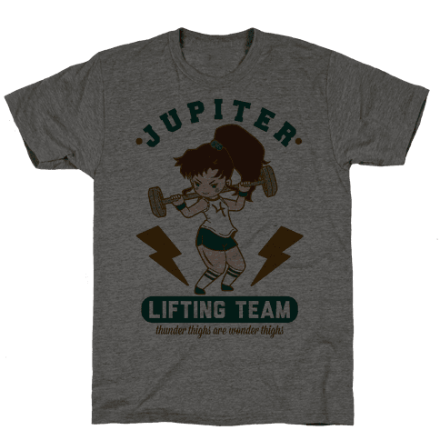 Jupiter Lifting Team Workout Parody Mens T-Shirt