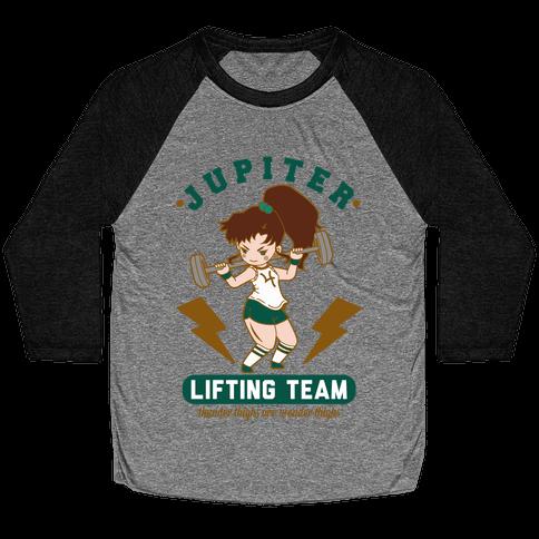 Jupiter Lifting Team Workout Parody Baseball Tee