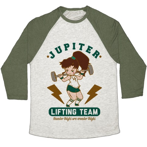 Jupiter Lifting Team Workout Parody Baseball Tee