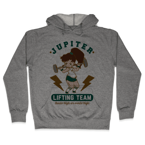 Jupiter Lifting Team Workout Parody Hooded Sweatshirt