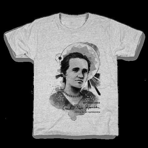Cecilia Payne-Gaposchkin Famous Astronomer Kids T-Shirt