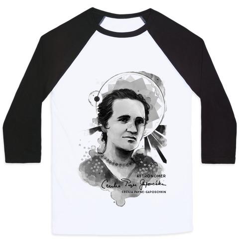 Cecilia Payne-Gaposchkin Famous Astronomer Baseball Tee
