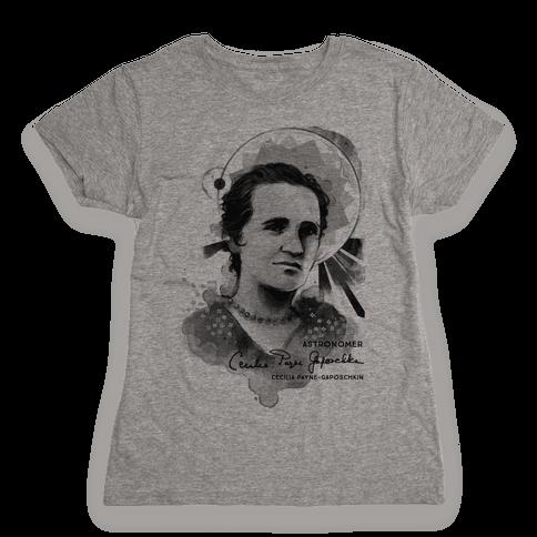 Cecilia Payne-Gaposchkin Famous Astronomer Womens T-Shirt