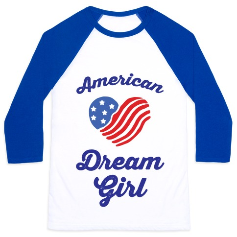 American Dream Girl Baseball Tee