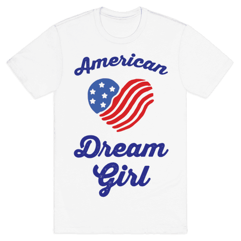 American Dream Girl Mens T-Shirt