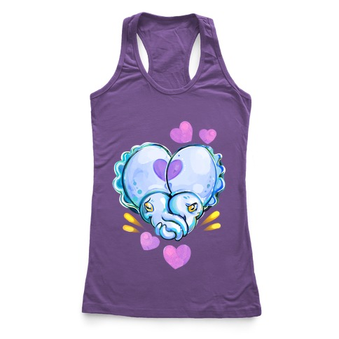 """Cuddle"" Fish (Cuttlefish) Racerback Tank Top"