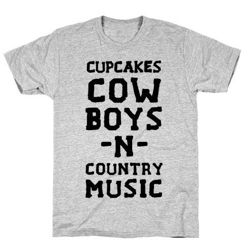 Cupcakes, Cowboys & Country Music (My Loves) Mens T-Shirt
