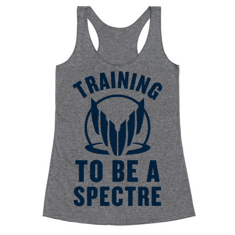 Training To Be A Spectre (Paragon) Racerback Tank Top