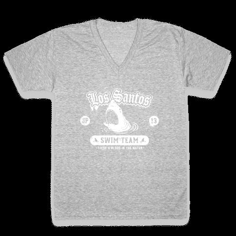 Los Santos Swim Team V-Neck Tee Shirt