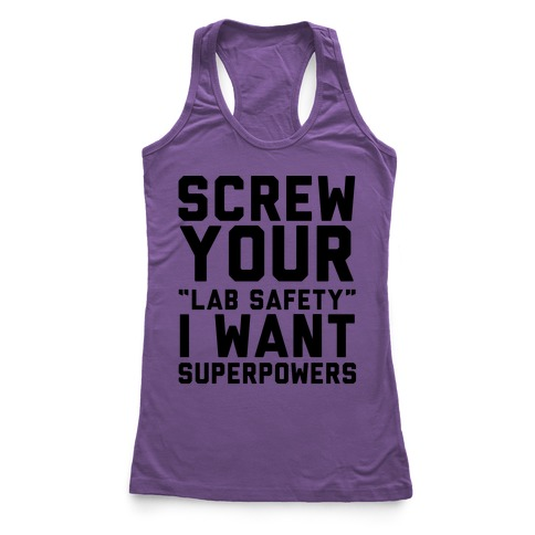 Screw Your Lab Safety Racerback Tank Top