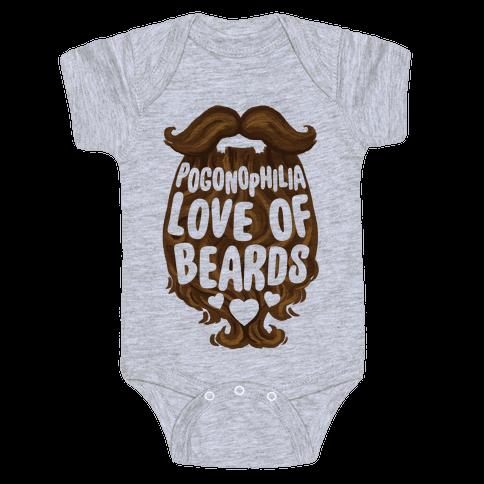 Pogonophilia: The Love Of Beards Baby Onesy