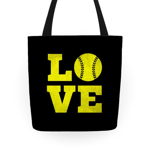 Love Softball Tote Tote