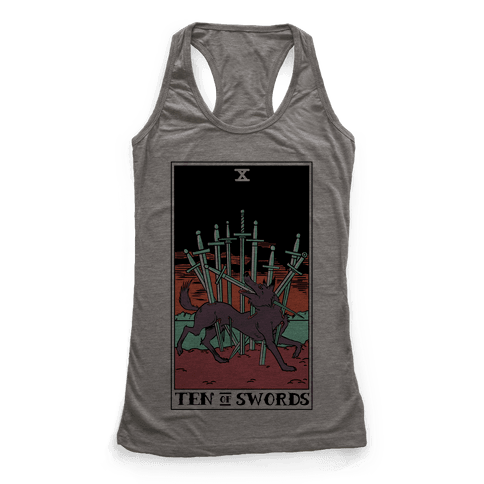 The Ten Of Swords Racerback Tank Top