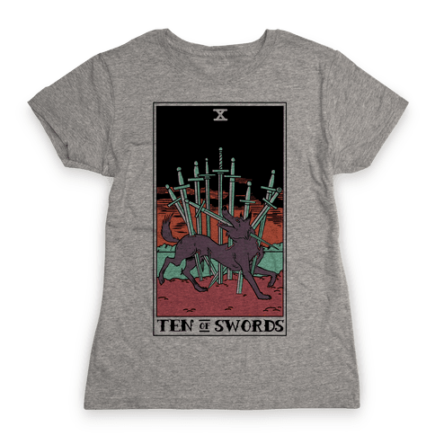 The Ten Of Swords Womens T-Shirt