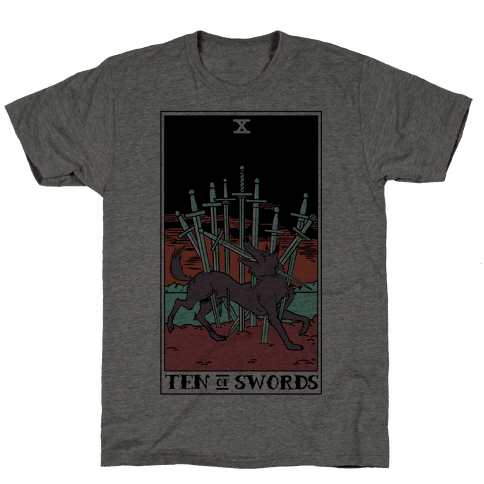 The Ten Of Swords Mens T-Shirt