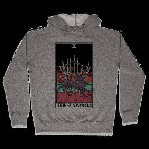 The Ten Of Swords Hooded Sweatshirt