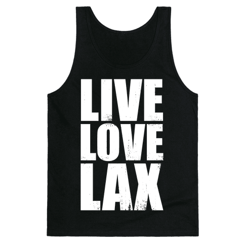 Live, Love, Lax (Dark Tank) Tank Top