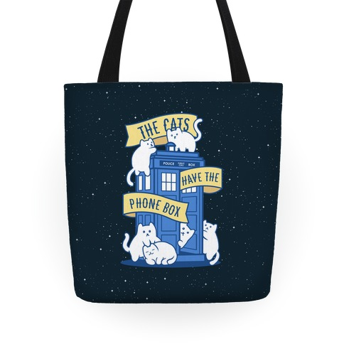 The Cats Have the Phone Box! Tote
