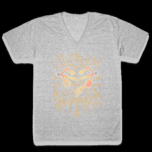 Heart of Etheria Fail Safe Emblem  V-Neck Tee Shirt