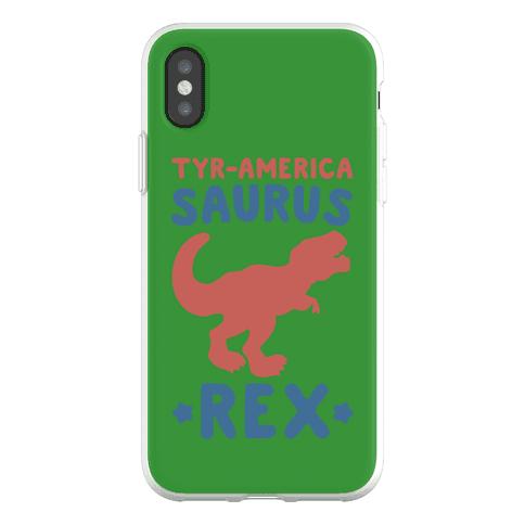 Tyr-America-Saurus Rex Parody Phone Flexi-Case