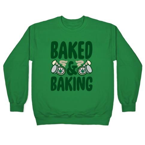 Baked & Baking White Print Pullover