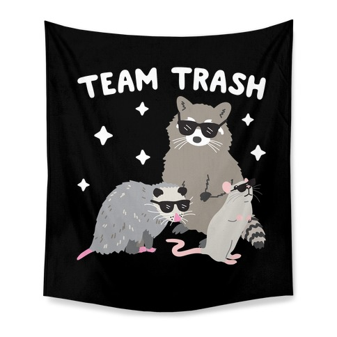 Team Trash Opossum Raccoon Rat Tapestry
