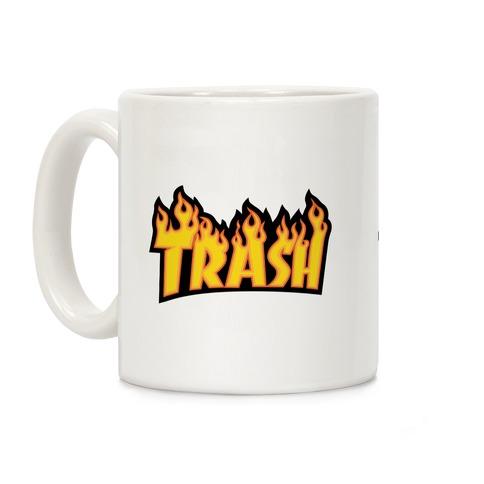 Trash Thrasher Logo Parody Coffee Mug