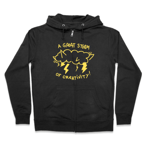 A Great Storm Of Creativity Zip Hoodie