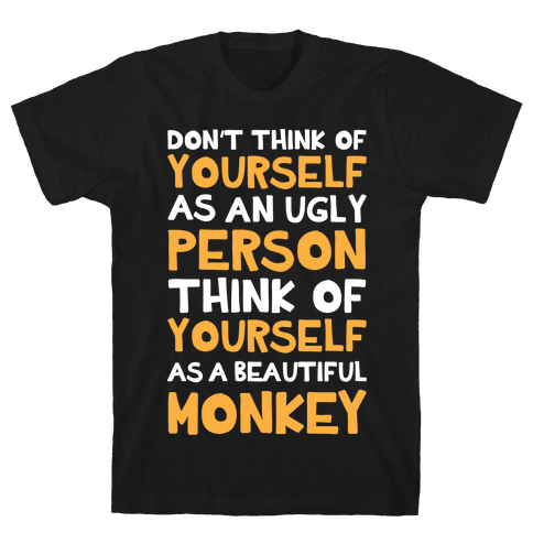Beautiful Monkey Mens T-Shirt