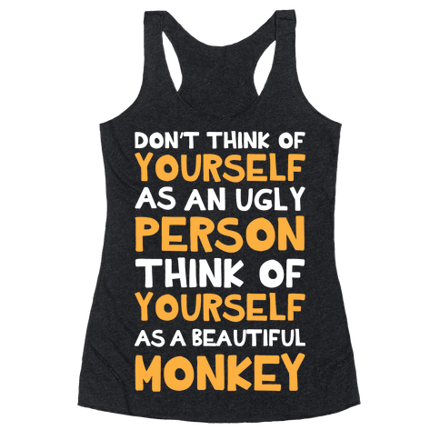 Beautiful Monkey Racerback Tank Top