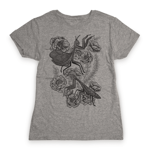 Praying Mantis Womens T-Shirt