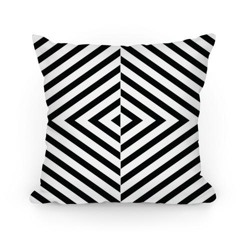 Diagonal Stripe Pattern Pillow