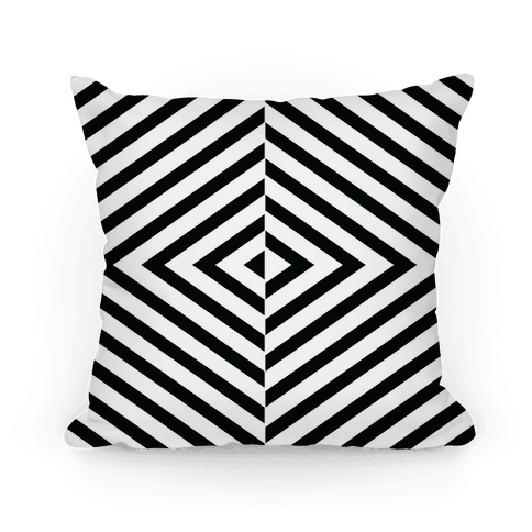 Diagonal Stripe Pattern Pillow