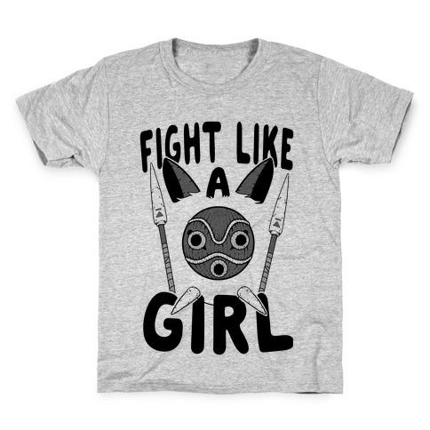 Fight Like A Girl San Parody Kids T-Shirt