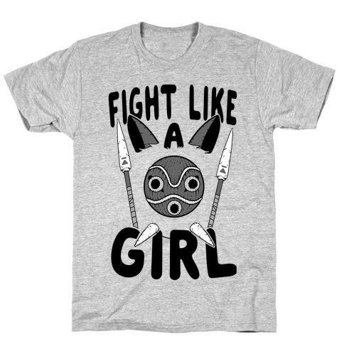 Fight Like A Girl San Parody T-Shirt