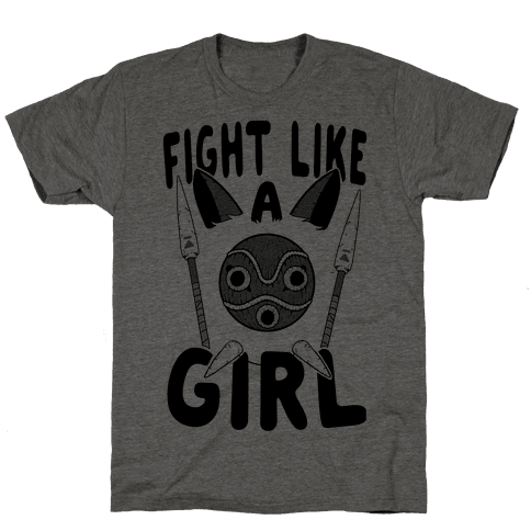Fight Like A Girl San Parody Mens T-Shirt