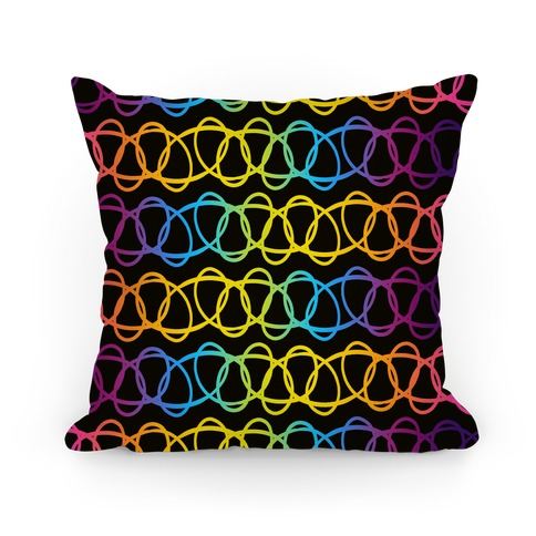 90s Cosmic Rainbow Choker Pattern Pillow