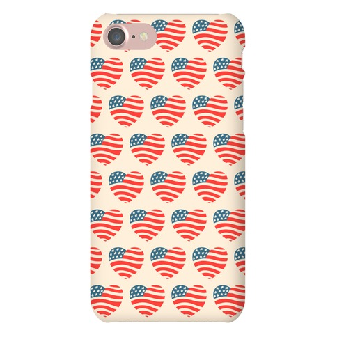 American Heart Pattern Phone Case