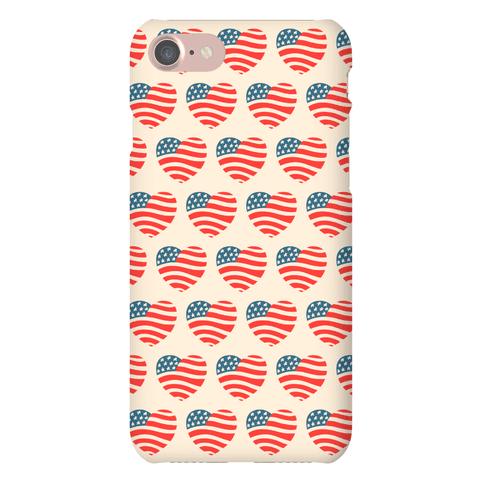 American Heart Pattern Phone Case