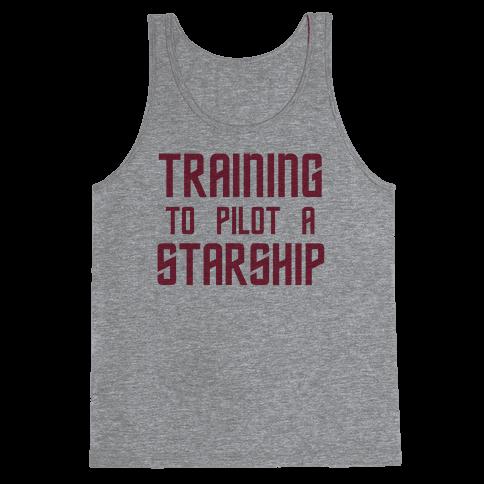 Training To Pilot A Starship Tank Top